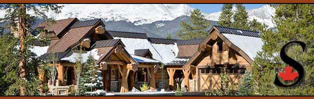 Exterior log homes header