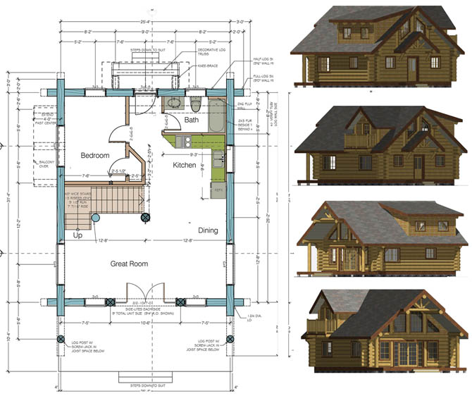 Log cabin at the vancouver home show by sitka log homes log cabin floor plan malvernweather Choice Image