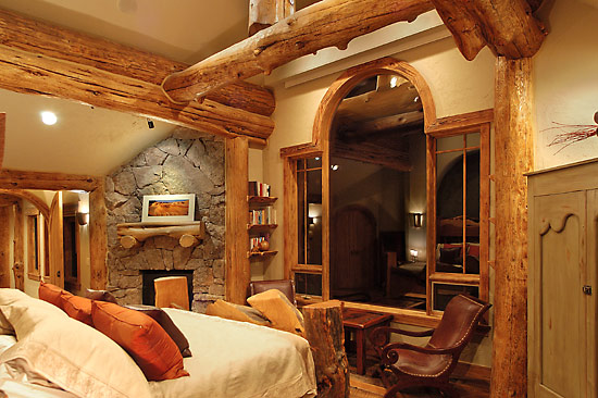 Hybrid log homes and timber homes for Log home bedrooms