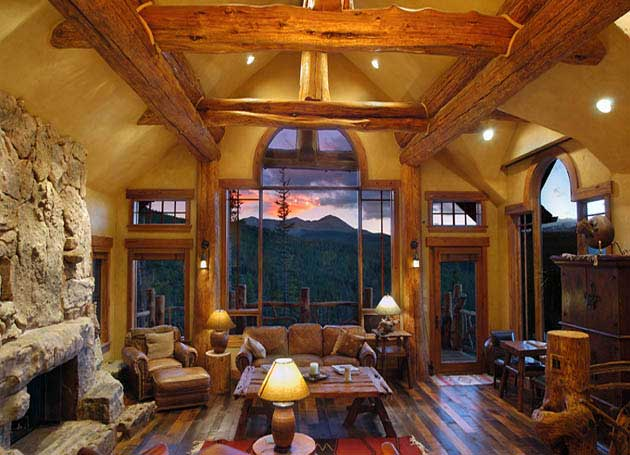 Log homes handcrafted timber frame builder cabins bc for Timber frame home interiors