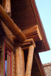 Hybrid Log House Handcrafted Bracing