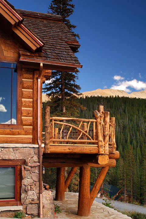 Hybrid Log House In Colorado Log Work By Sitka Log Homes