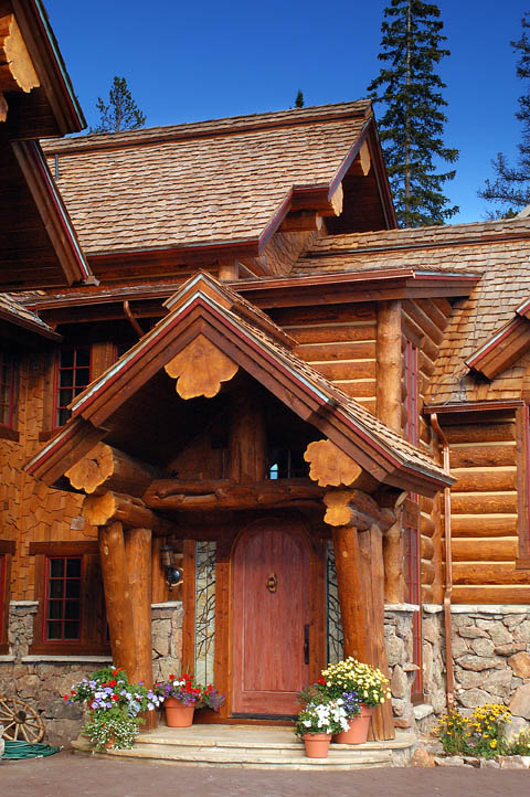 Hybrid Log House In Colorado Log Work By Sitka Log Homes