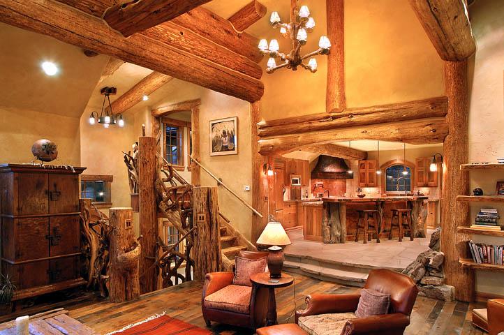 Hybrid log house in colorado log work by sitka log homes - Casas rurales de madera ...