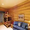 Log bunk beds in log home