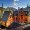 handcrafted log home in Colorado