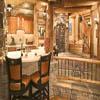 beautiful log home interior photo