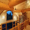dormer inside handcrafted log house