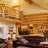 interior log home picture