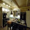 kitchen in log home display
