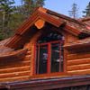 log home windows