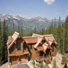 mountain log house