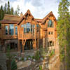 log siding on hybrid log home