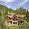 log home with sun deck