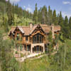 log home exterior photo