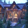 beautiful entry to log home