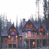 exterior log house pic