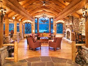 Superior Log Home Interior