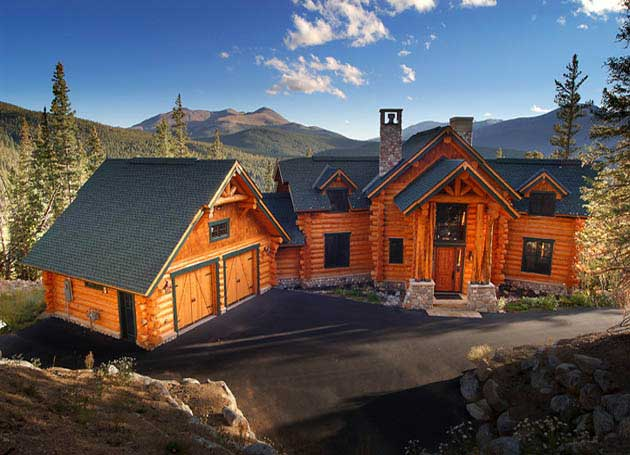 Log Beach House ~ Log homes handcrafted timber frame builder cabins bc
