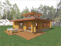log home plan - Lookout