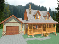 log home plan - New Frontier