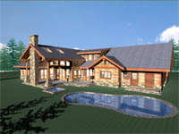 log home plan - New West