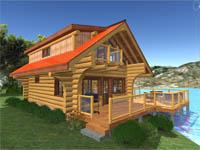 Download log home floor plans timber house plans log for Log cabin kits 2000 sq ft