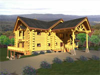 log home plan - Tennessee