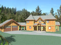 log home plan - The Fort