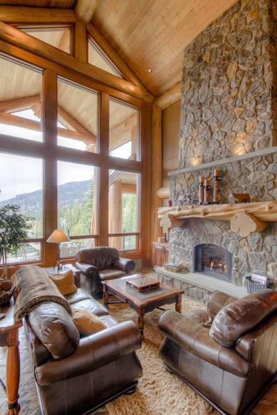 Log Home At Sun Peaks Resort Hybrid Log House
