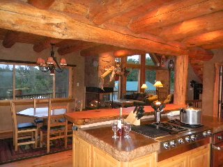 Handcrafted Log House At Roaring River Ranch California