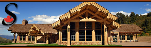 Day Lodge built by Sitka Log Homes