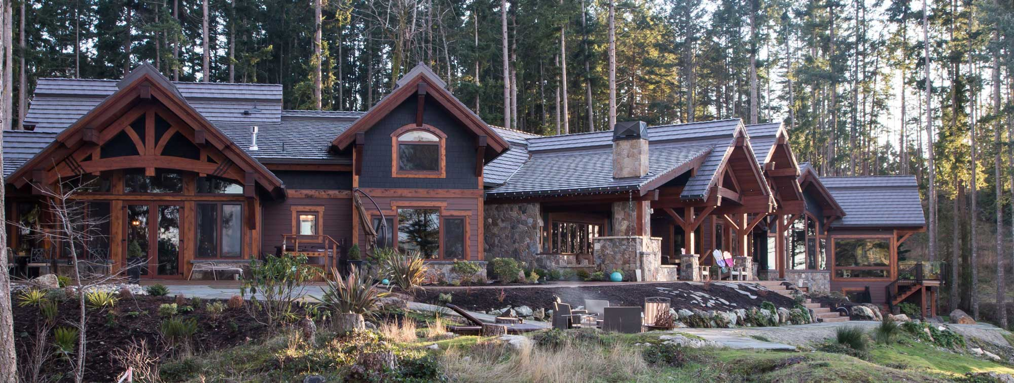 Exterior: Timber Frame Home Construction