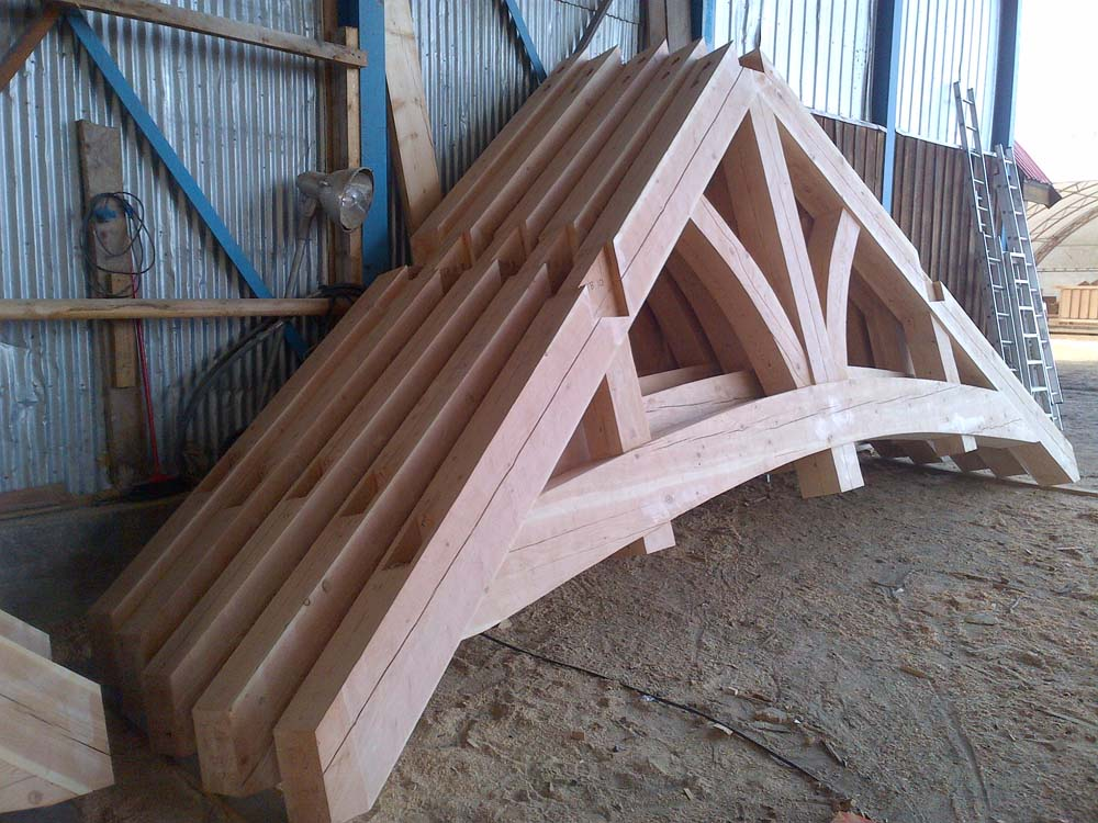 Timber Framed Building : Timber frame home construction