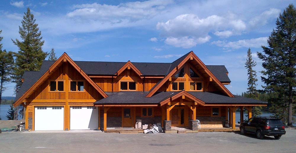 Timber frame home construction for Timber frame house plans