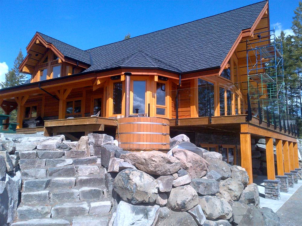 Timber frame home construction Timber house