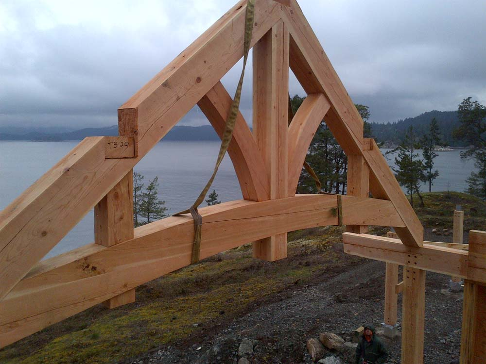 Timber frame home construction for How to build a timber frame house