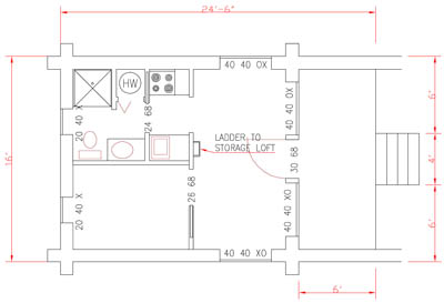 Whister Small Log Cabin Floor Plan