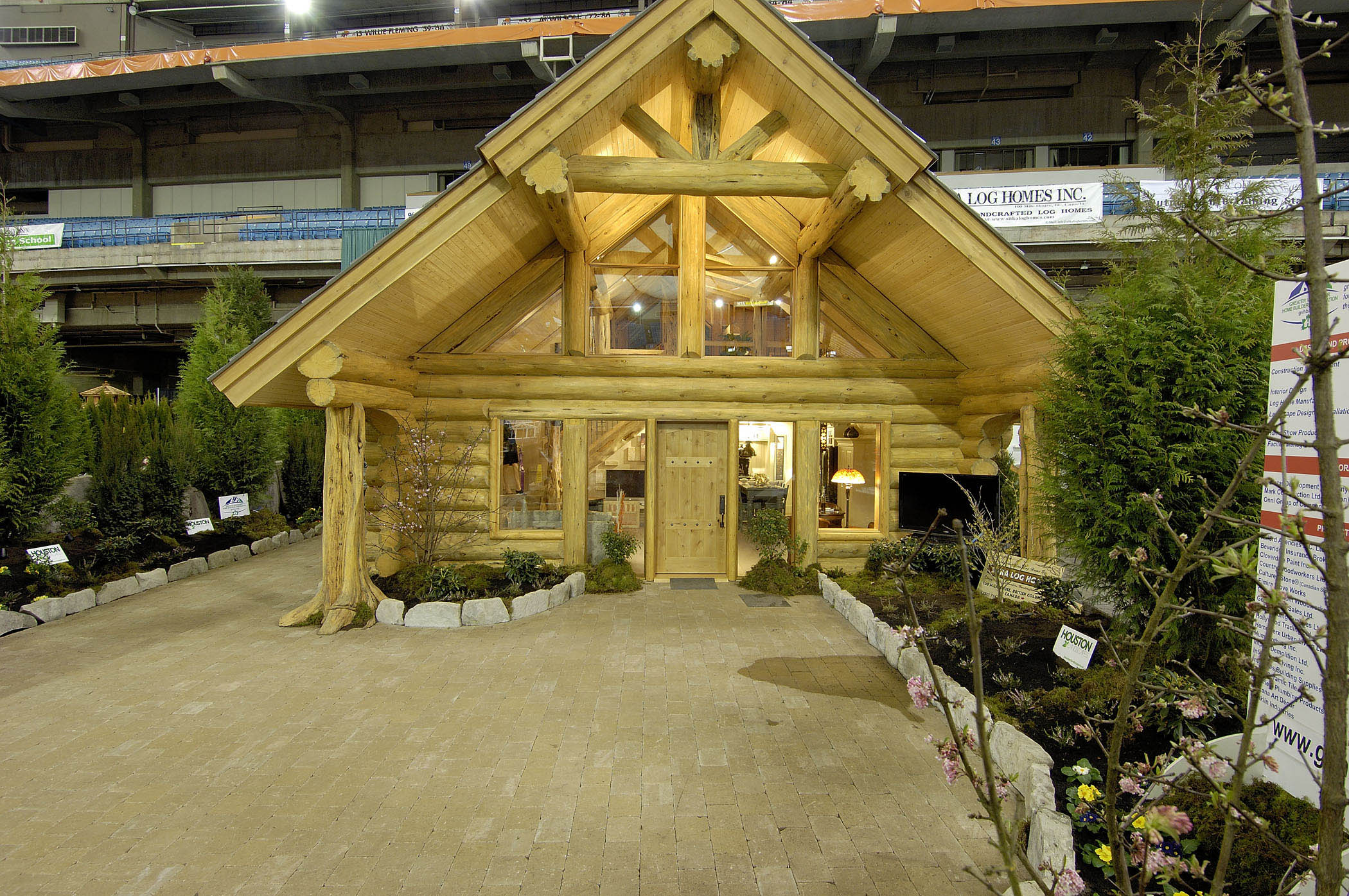 Log Cabin At The Vancouver Home Show By Sitka Homes Wiring A