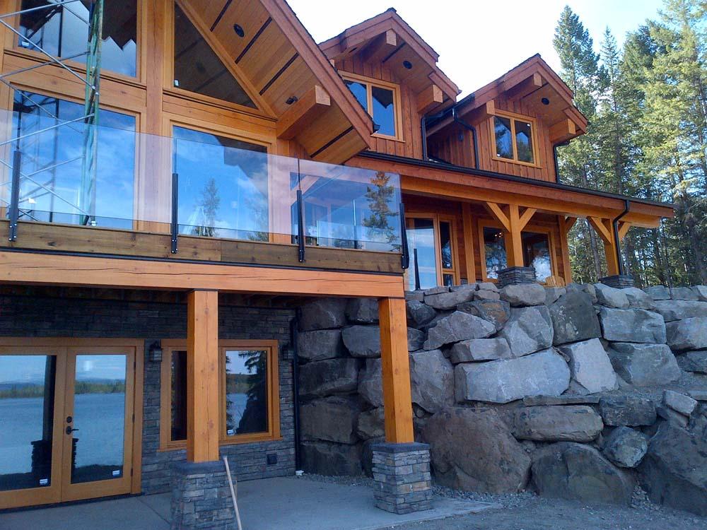 Hardwood Log Cabins ~ Timber frame home construction